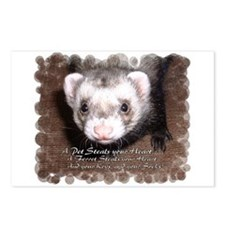 """A ferret steals your heart.. and"" Postcards (Pack"