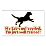 Spoiled Lab? - Rectangle Decal