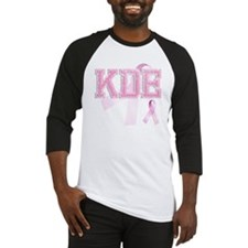 KDE initials, Pink Ribbon, Baseball Jersey