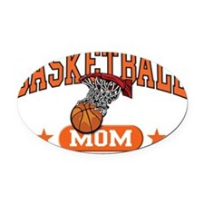 Basketball Mom Oval Car Magnet