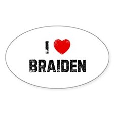 I * Braiden Oval Decal