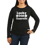 Lucky Irish Shamrocks Women's Long Sleeve Dark T-S