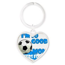 soccer so good2 Heart Keychain