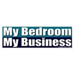 My Bedroom My Business Bumper Sticker