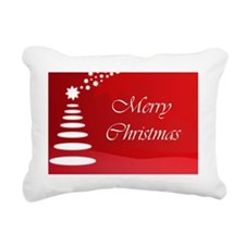 Merry Christmas Tree Rectangular Canvas Pillow