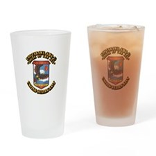 USS Tarawa (LHA-1) with Text Drinking Glass