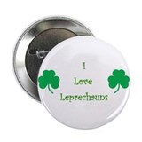 I love Leprechauns! St Patricks Day Button