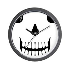 Scull Face Tee Wall Clock