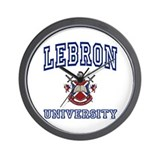LEBRON University Wall Clock