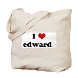 Cute I love edward Tote Bag