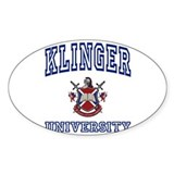 KLINGER University Oval Decal
