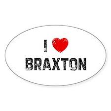 I * Braxton Oval Decal