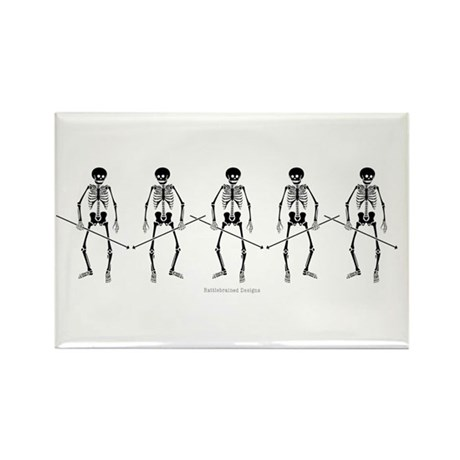 Dance Macabre Rectangle Magnet