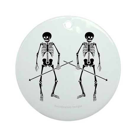 Dance Macabre Ornament (Round)
