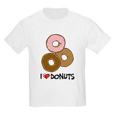 I Love Donuts Kids T-Shirt