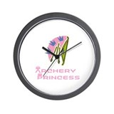 ArcheryChick Princess Wall Clock
