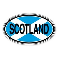 Scotland Full Text Euro Oval Decal