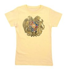 Armenia Coat of Arms wood Girl's Tee