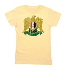 Syria Coat of Arms wood Girl's Tee