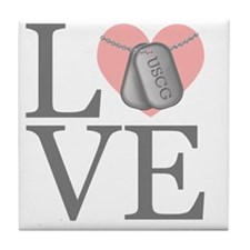 USCG Love Tile Coaster
