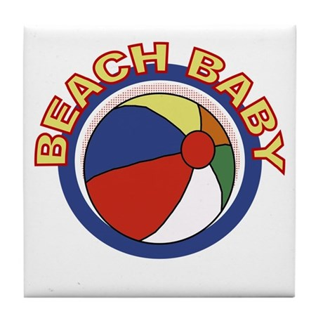 Beach Baby Tile Coaster