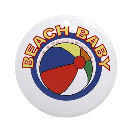 Beach Baby Ornament (Round)