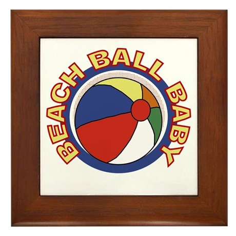 Beach Ball Baby Framed Tile
