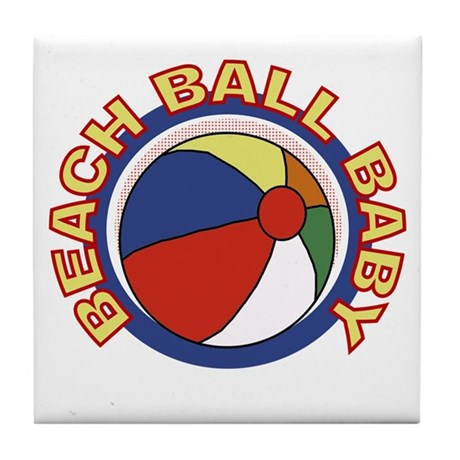 Beach Ball Baby Tile Coaster
