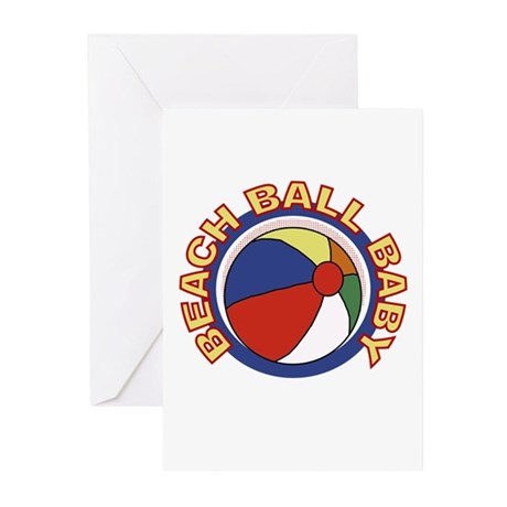 Beach Ball Baby Birth Announcement Cards (10)