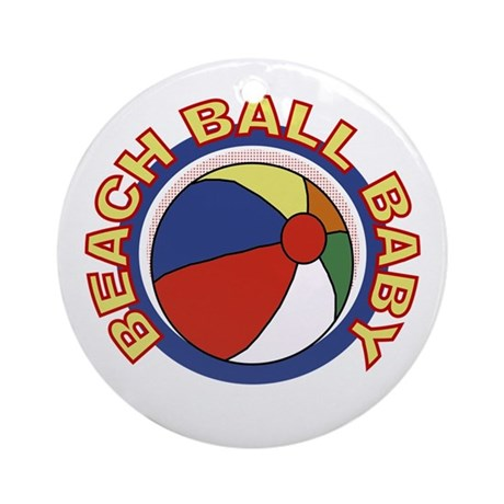 Beach Ball Baby Ornament (Round)