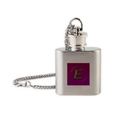 """E"" Flask Necklace"
