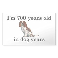 100 birthday dog years springer spaniel 2 Decal