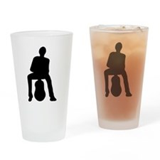 Guitar Player Silhouette Drinking Glass
