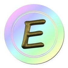 Unique Initial e Round Car Magnet