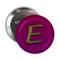 "Cute Initial e 2.25"" Button (10 pack)"