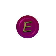 Cute Initial e Mini Button (10 pack)