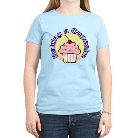 Baking a Cupcake Women's Light T-Shirt