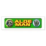 Aloe Man Bumper Car Sticker