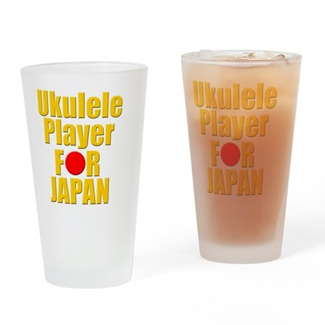 ukulele player for japan Drinking Glass
