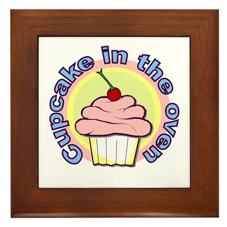 Cupcake in the Oven Framed Tile