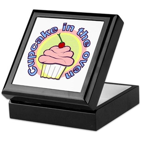 Cupcake in the Oven Keepsake Box