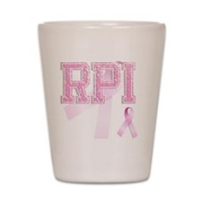 RPI initials, Pink Ribbon, Shot Glass