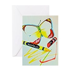 Crayon Butterfly Greeting Card