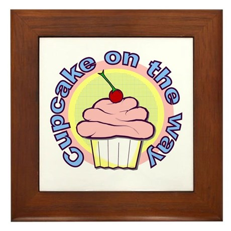 Cupcake on the Way Framed Tile