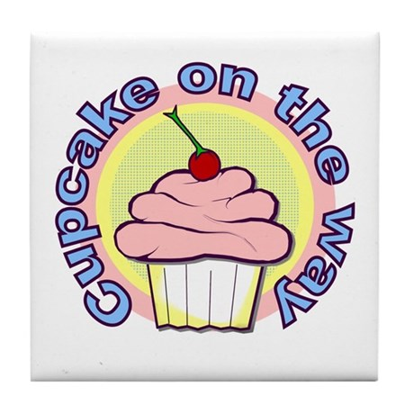 Cupcake on the Way Tile Coaster