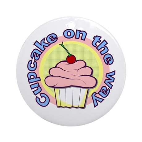 Cupcake on the Way Ornament (Round)