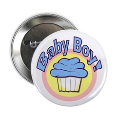 "Baby Boy Cupcake 2.25"" Button (100 pack)"