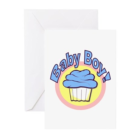 Baby Boy Cupcake Baby Shower Invitation (10)
