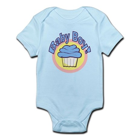 Baby Boy Cupcake Infant Bodysuit