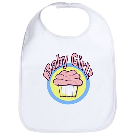 Baby Girl Cupcake Bib